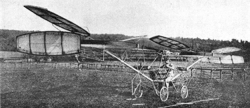 CORNU (1908). An early helicopter for which flights were